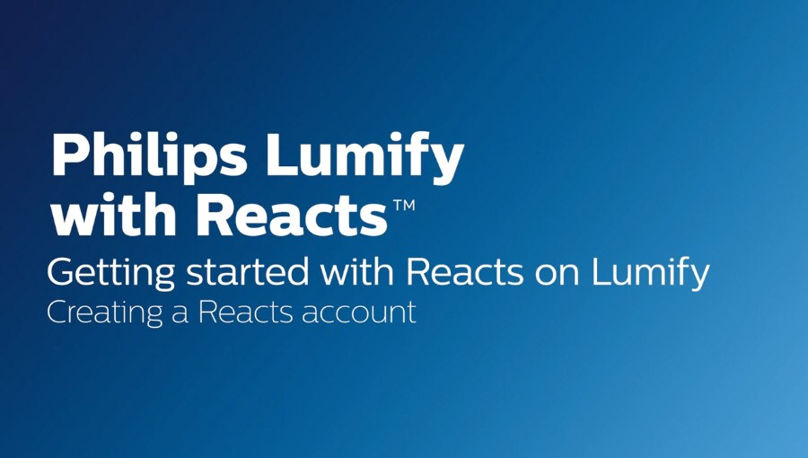 Creating a reacts account