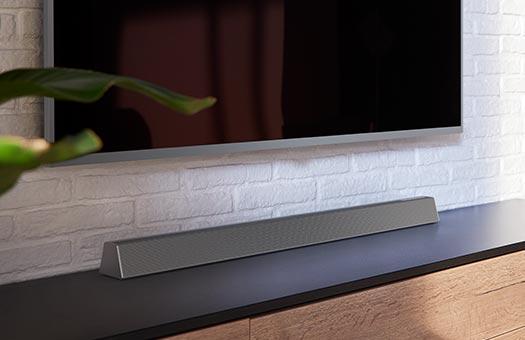 Reproduktory soundbar od spoločnosti Philips. Televízne reproduktory  soundbar, bezdrôtové subwoofery, 4K   Philips